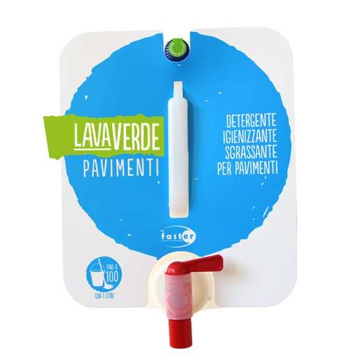 Lavaverde Pavimenti Detergente igienizzante sgrassante per pavimenti 5 volte attivo