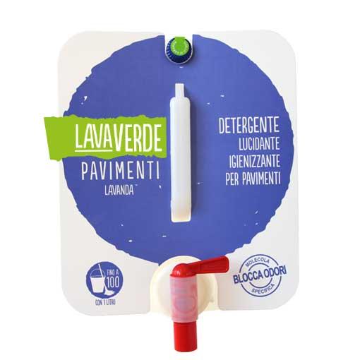 Lavaverde Pavimenti Lavanda Detergente lucidante igienizzante per pavimenti
